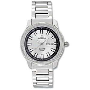 Men's Round Sartego Land Master Watch Silver Dial