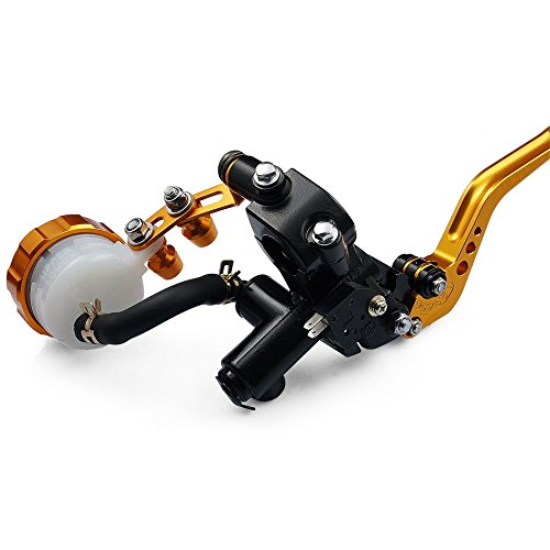 Motorcycle Racing CNC Adjustable Brake Master Cylinder Fluid Reservoir Levers Kit Gold 7/8(22mm) For 1994 1995 1996 1997 1998 1999 2000 2001 Ducati MONSTER M600 for triumph bonneville se t100 black bonneville t120 7 8 22mm cnc motorcycle handlebar brake clutch levers protector guard