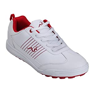 Woodworm Surge Golf Shoe White/Red 11