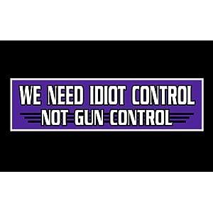 Gun Control Bumper Sticker by talkingstickers |Gun Bumper Stickers