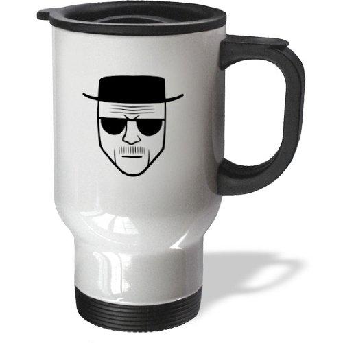3Drose Tm_178683_1 Heisenberg Stainless Steel Travel Mug, 14-Ounce