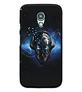 PrintDhaba Mask D-5179 Back Case Cover for MOTOROLA MOTO G2 (Multi-Coloured)