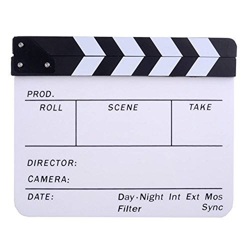Neewer® Acrylic Plastic Dry Erase Director's Film Clapboard