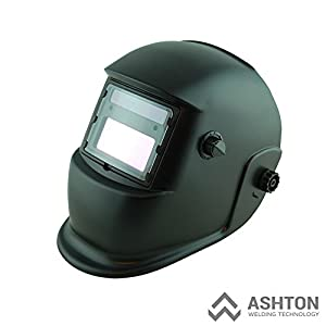 Commercial 115v Mig 130 135 Amp Automatic Feed Flux Core Gasless Welder Mig-135aw Black Helmet AWT-F1 Kit by ASHTON WELDING TECHNOLOGY