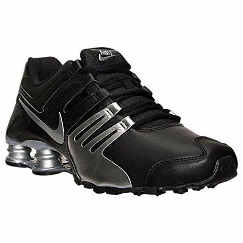 Nike Men's Shox Current Running Shoes-Black/Metallic Silver-11