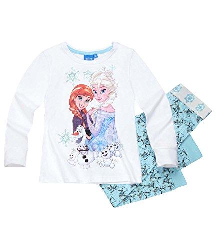 Disney Frozen - Il regno di ghiaccio Ragazze Pigiama - Azzurro - 128