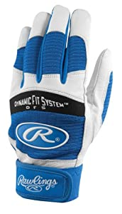 Rawlings BGP355A-R-89 Batting Gloves, Medium (Royal)