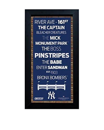 Steiner Sports Memorabilia Framed New York Yankees Desktop/Wall Hangable Subway Sign Wall Art