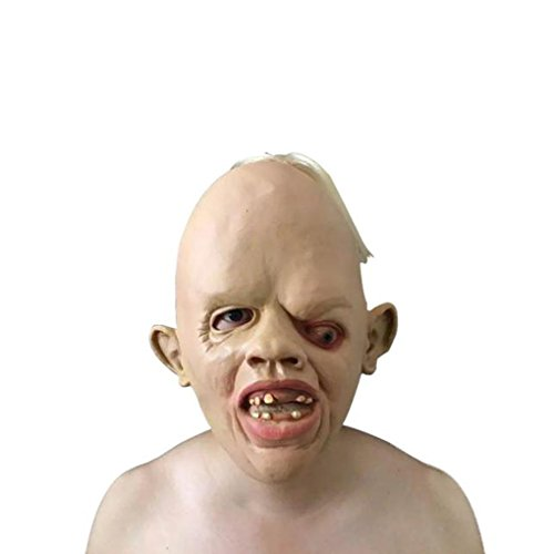 Halloween Ugly Human Head Masks Sold by Alizzee,Full Head Halloween Masks (Werewolf Outfits Halloween)