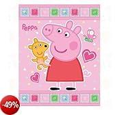 Coperta plaid in pile Peppa Pig