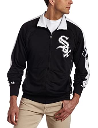 MLB Chicago White Sox Profector Mock Neck Full Zip Raglan Jacket by Majestic