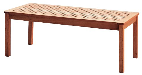 Premier Housewares Coffee Table Criss Cross Design 45 x 118 x 54 cm, Walnut Wood