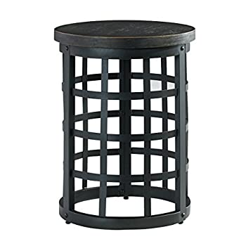 Ashley Furniture Signature Design - Marimon End Table - Accent Side Table - Round - Black