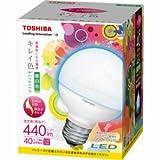 東芝 E-CORE(イー・コア) LED電球 <キレイ色-kireiro-> 電球ボール電球形 7.5W(高演色タイプ・密閉形器具対応・ボール電球40W相当・440ルーメン・昼白色) LDG8N-D/G70