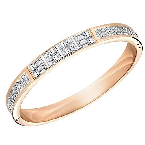 Donne-Bangle Swarovski Ethic Bracelet L bianco 5221391