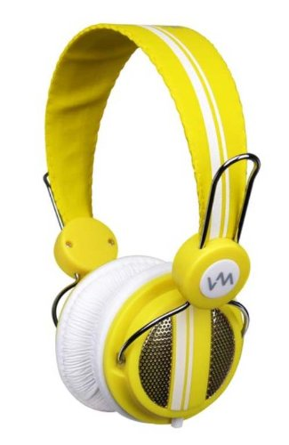New Vm Audio Srhp5 Stereo Mp3/Iphone Ipod On Ear Dj Headphones Monitor - Yellow