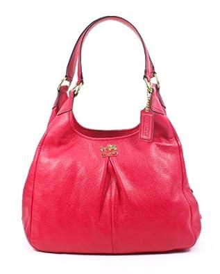 Coach 21225 Leather Madison Maggie Hobo Handbag Punch Pink