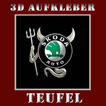3D Chrom Auto DEVIL Aufkleber TEUFEL Emblem SCODA * OPEL * Volkswagen * FORD
