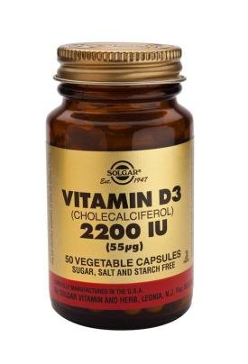 Solgar, Vitamin D3 2200 IU Vegetable Capsule, 50