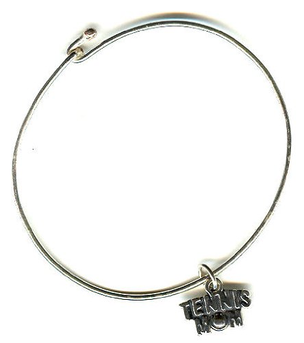 .925 Sterling Silver 8 inch Bracelet with Tennis Mom Charm