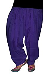 Bansal Collection Women's Patialas (Purple_Free Size)