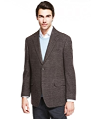 Collezione Pure Wool 2 Button Checked Jacket