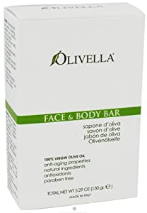 Olivella Virgin Olive Oil Face and Body Bar Soap - 5.29 Oz