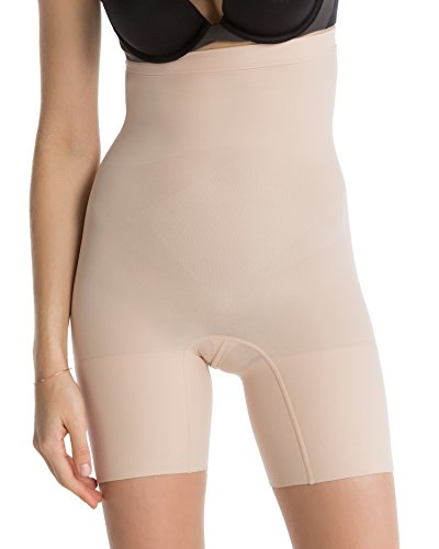 SPANX Power Series Medium Control Higher Power Short, 1X, Soft Nude