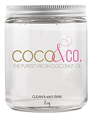 Coconut Oil for Hair & Skin By COCO&CO. Beauty Grade 100% RAW, 4oz.