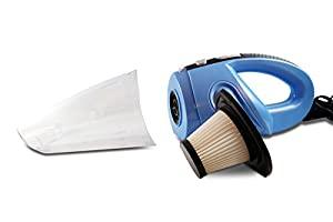 Premium Portable Car Vacuum Cleaner, Handheld 12 volt DC Bagless/Multiple Attachments. Strong suction, best for Auto and RV. Lightweight with Wet and Dry Vac Capability. Long Cord to Reach any Place from FamilyTool