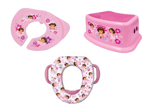 Nickelodeon Soft Potty, Travel Potty And Step Stool Combo Set, Dora The Explorer