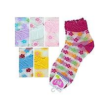 Bulk Buys Mid Cut Flower 9-11 Socks