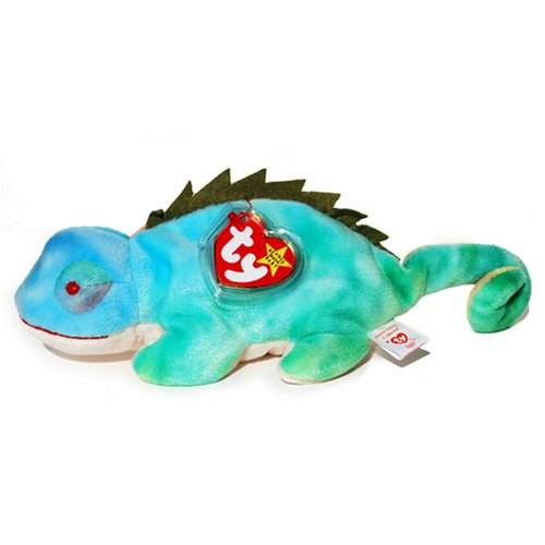 Ty Beanie Babies - Rainbow The Ty-Dye Chameleon - Iggy Tags - 1