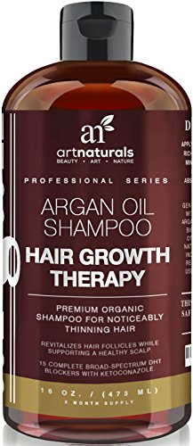 Art Naturals Organic Argan Oil Hair Loss Shampoo for Hair Regrowth 16 Oz - Sulfate Free - Best Treatment for...