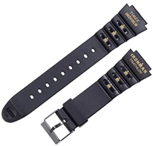 Timex Men's Q7B806 Ironman Triathlon Shock Resin 18mm Replacement Watchband