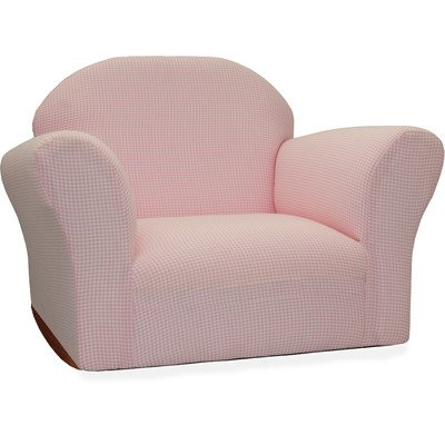 KEET Roundy Rocking Chair Gingham, Pink