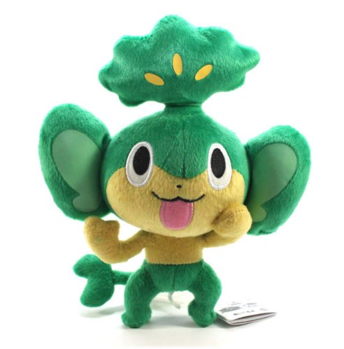 "Pokemon Best Wishes Banpresto Black And White Cinematic Version Plush - 47514 - 8"" Pansage/Yanappu"