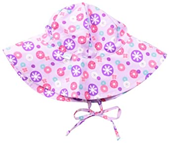 i play. Baby-Girls Classic Brim Sun Protection Hat, Lavender Retrodot, New Born/0-6 Months