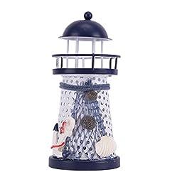 Home Decor Children Room Nautical Style Lighthouse Night Light Lamp #2