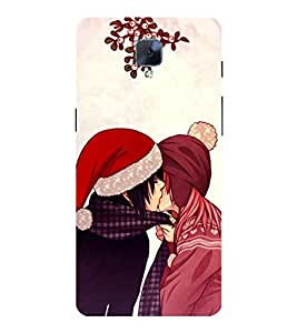 Kissing Couple 3D Hard Polycarbonate Designer Back Case Cover for OnePlus 3 :: OnePlus Three