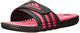 adidas Performance Women\'s Adissage W Athletic Sandal, Core Black/Bahia Pink/Black, 13 M US