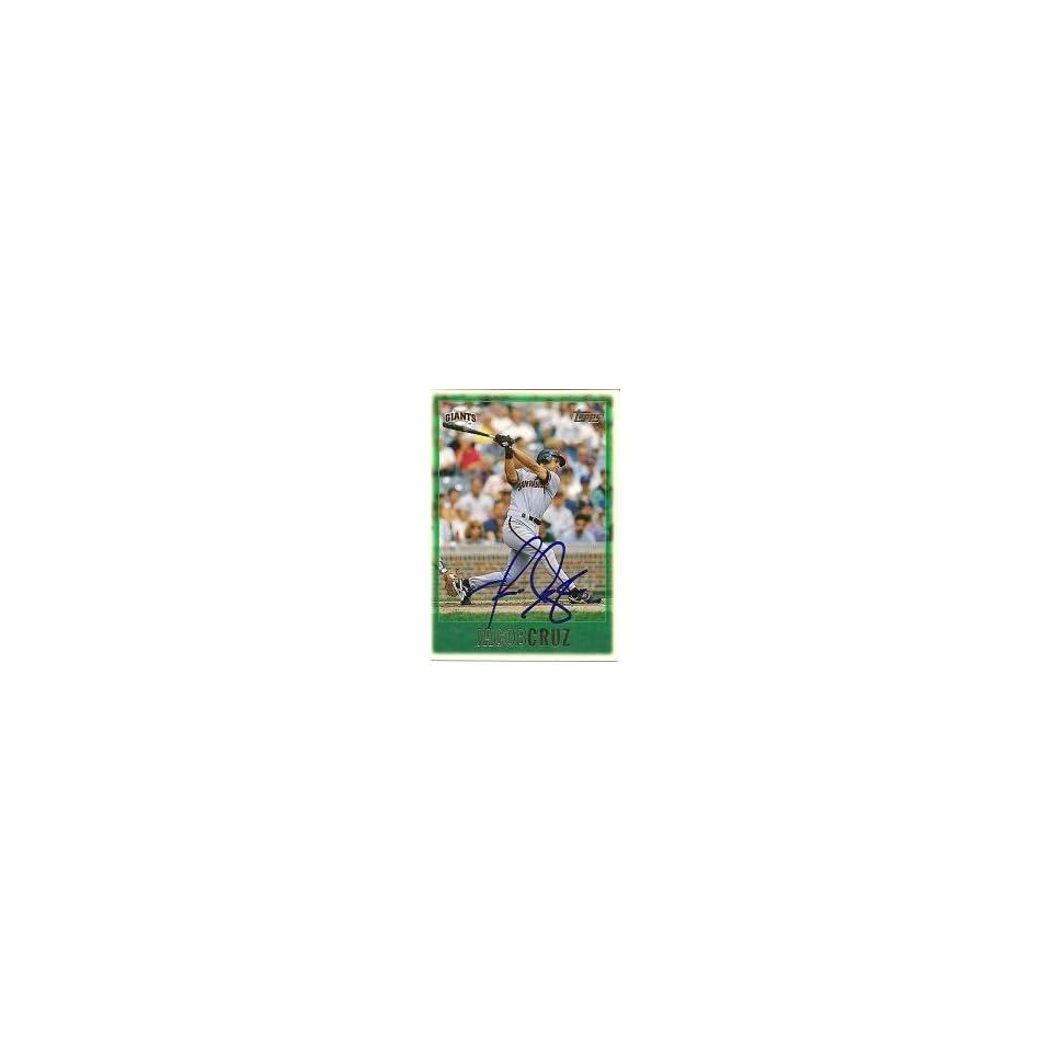 Jacob Cruz San Francisco Giants 1997 Topps Signed Card