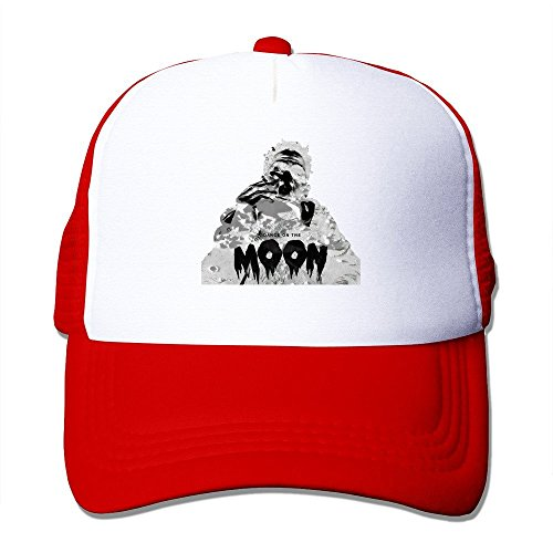 Printed Pattern Travis Scott - Dance On The Moon Unisex Half Mesh Adjustable Hats Caps Red