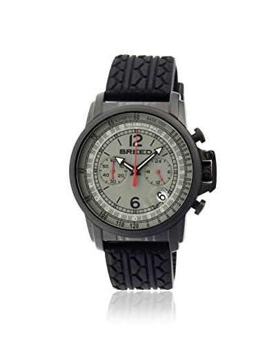 Breed Men's BRD5404 Nash Black/Grey Silicone Watch