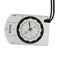 YKS Mini All in 1 Outdoor Hiking Camping Baseplate Compass Map Measure Ruler by YKS