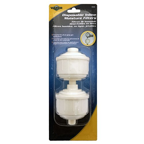 DISPOSABLE AIR LINE FILTERS - 2 PC. (Air Tool Air Filter compare prices)