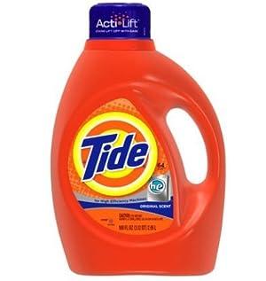 Tide Original Scent HE Turbo Clean Liquid Laundry Detergent, 100 oz