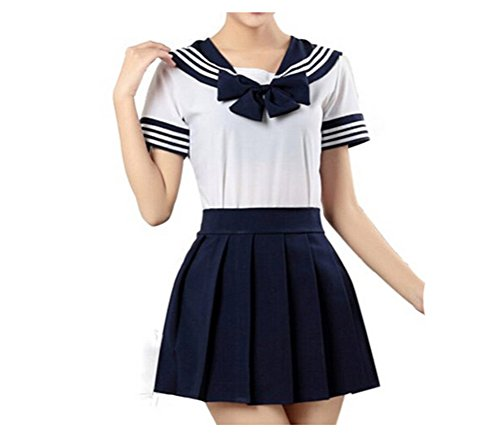 Japan School Uniform Dress Cosplay Costume Anime Girl