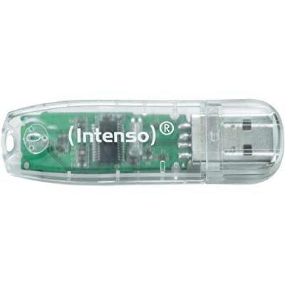 Intenso 3502480 32GB Rainbow USB 2.0 Flash Drive - Transparent by Intenso