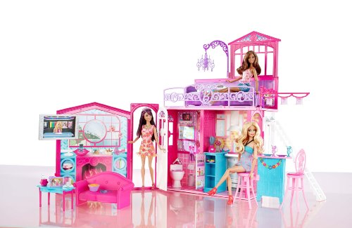 barbie glam vacation house barbie dollhouses. Black Bedroom Furniture Sets. Home Design Ideas